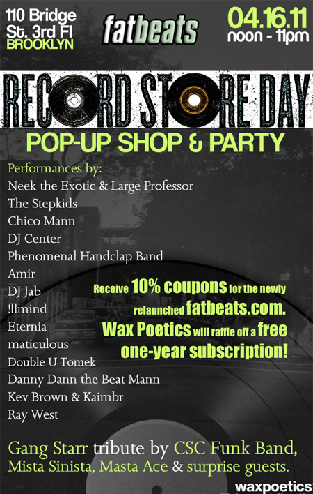 Fat Beats Record Store Day
